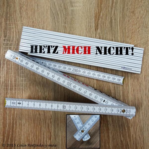 3 Meter Profi Zollstock HETZ MICH NICHT