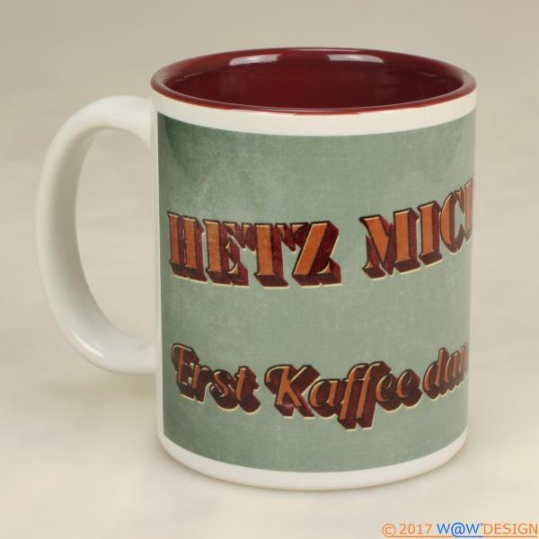 Kaffeebecher Retrostyle HETZ MICH NICHT! Ansicht 2