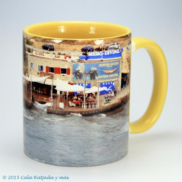 Kaffeebecher mit Motiv Sa Cova und Mero Diving 2014