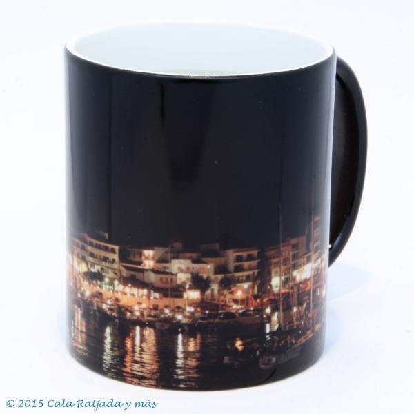 Kaffeebecher mit Motiv Hafen Bei Nacht