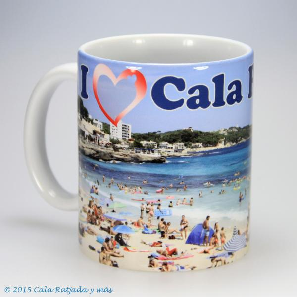 Kaffeebecher I Love Cala Ratjada  mit Motiv Son Moll
