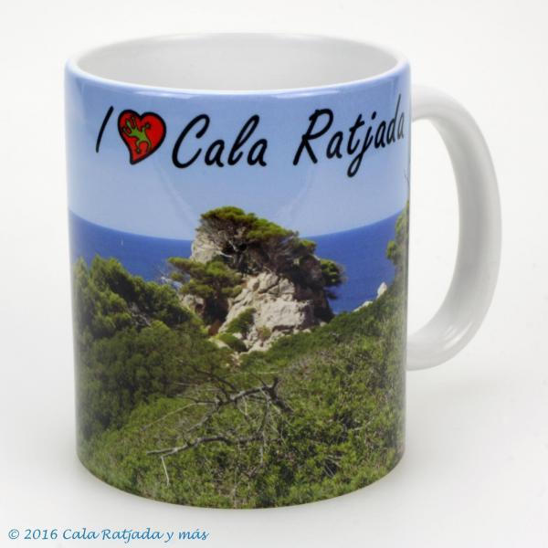 Kaffeebecher I Love Cala Ratjada seis