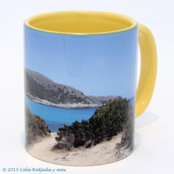 Kaffeebecher mit Motiv Cala Agulla 2012