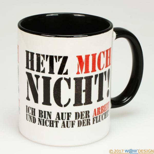 Kaffeebecher Het Mich Nicht! at Work BiCo black - Henkel rechts