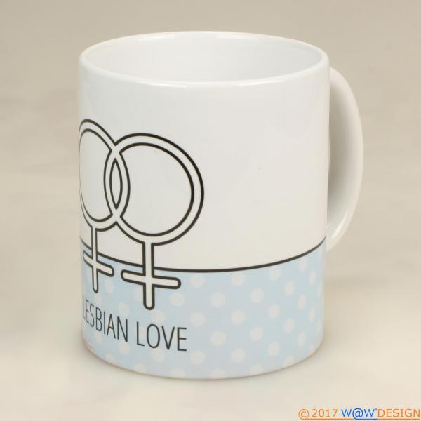 Kaffeebecher LESBIAN LOVE